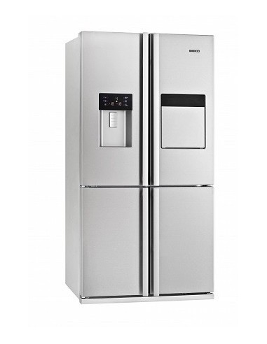 refrigerateur multi portes beko 535l nofrost minibar a inox. Black Bedroom Furniture Sets. Home Design Ideas