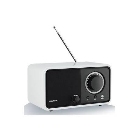 RADIO DE SALON GRUNDIG FM TUNER ANALOGIQUE 5W SECTEUR BLANC LAQUE