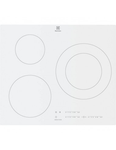 PLAQUE INDUCTION ELECTROLUX 3F 7400W BLANC