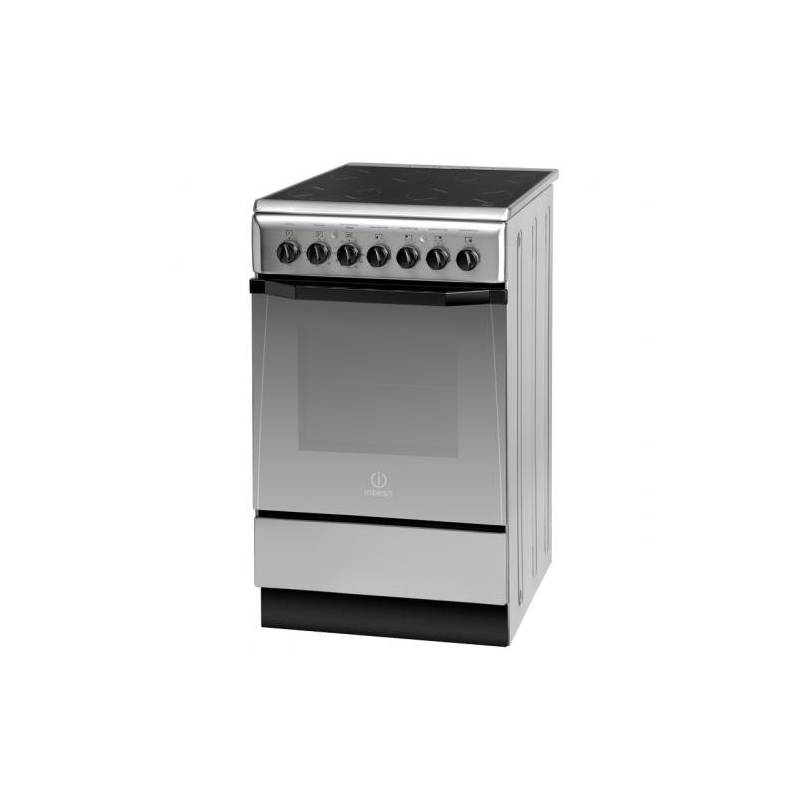 cuisiniere 50 cm vitroceramique indesit four 57l multifonction inox. Black Bedroom Furniture Sets. Home Design Ideas