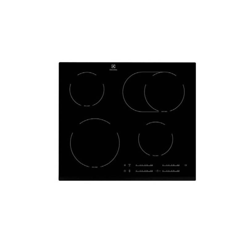 plaque vitroceramique electrolux 4f dont 1zone sensitive 6400w noir. Black Bedroom Furniture Sets. Home Design Ideas