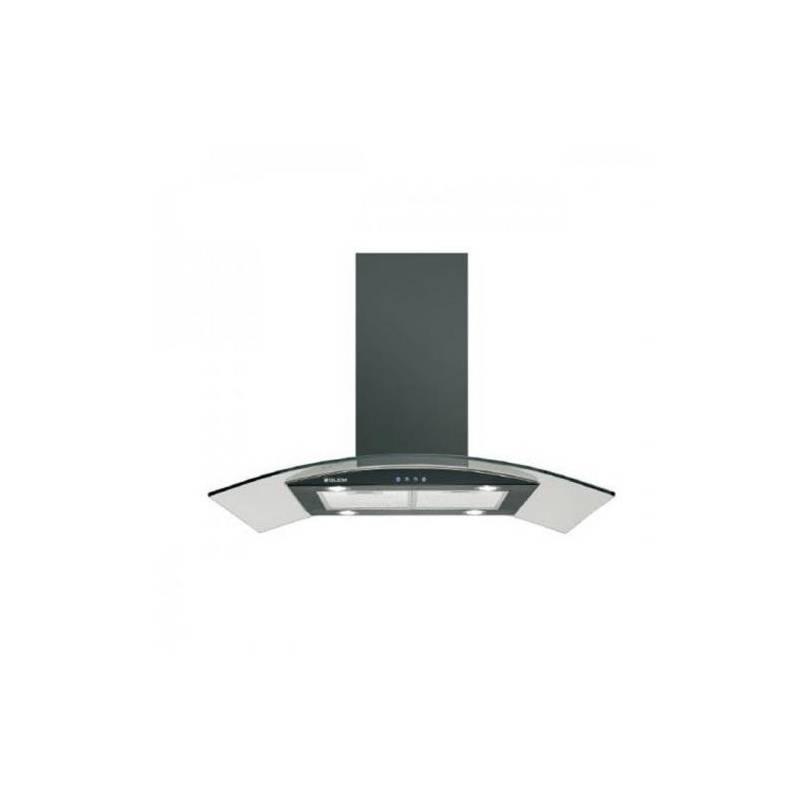 hotte ilot glem 1000m3 h 75db 90cm verre metal noir. Black Bedroom Furniture Sets. Home Design Ideas