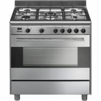 CENTRE DE CUISSON SMEG MIXTE 5 GAZ FOUR VAPOR CLEAN115L INOX
