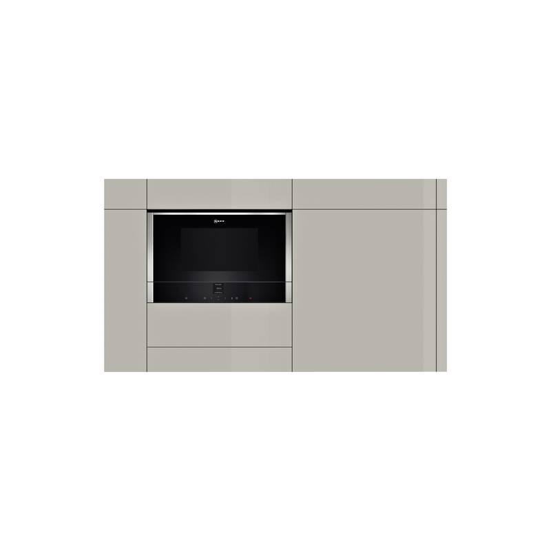 micro ondes 38 cm neff combi 21l 900w inox. Black Bedroom Furniture Sets. Home Design Ideas