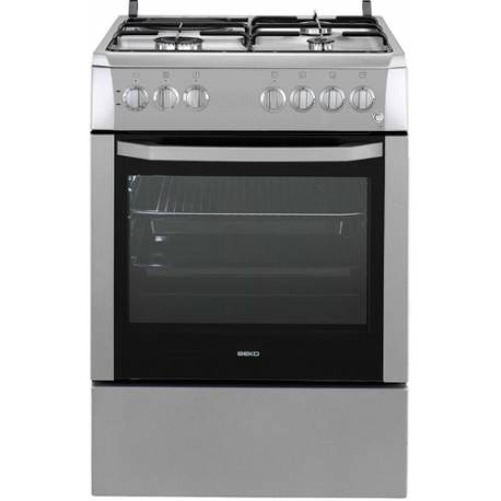 CUISINIERE MIXTE 3+ 1 EMAIL LISSE BEKO FOUR ELEC CATALYSE SILVER