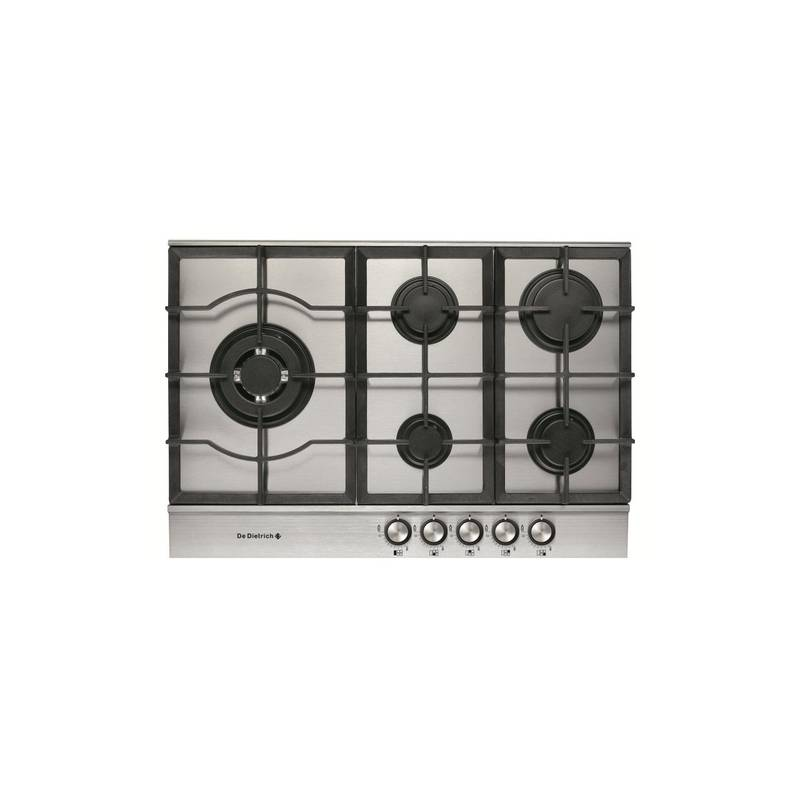plaque grande largeur gaz email de dietrich 5 gaz inox. Black Bedroom Furniture Sets. Home Design Ideas