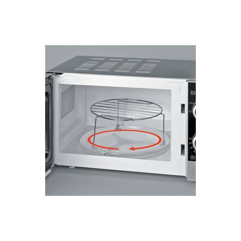 micro ondes gril severin 20l inox brosse. Black Bedroom Furniture Sets. Home Design Ideas