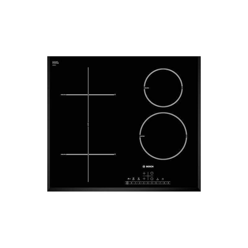 plaque induction bosch 4 foyers dont 1 multizone noir biseautes. Black Bedroom Furniture Sets. Home Design Ideas