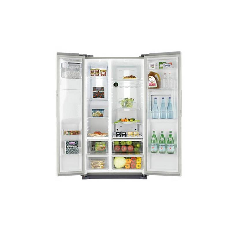 refrigerateur americain samsung 543l 359 184 bar a inox. Black Bedroom Furniture Sets. Home Design Ideas