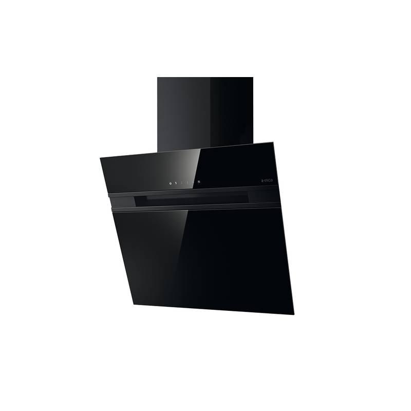 hotte decorative elica 90 cm noire. Black Bedroom Furniture Sets. Home Design Ideas