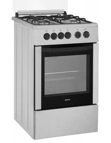 cuisiniere 50 cm gaz beko four gaz catalyse inox 50x60. Black Bedroom Furniture Sets. Home Design Ideas