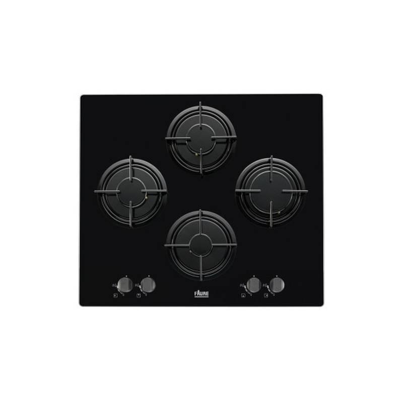 plaque gaz verre faure 4g noir. Black Bedroom Furniture Sets. Home Design Ideas