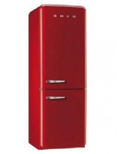 refrigerateur combi smeg 304l brasse no frosta rouge. Black Bedroom Furniture Sets. Home Design Ideas