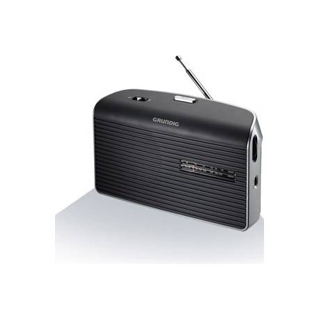 RADIO GRUNDIG FM LW MW PILES/SECTEUR NOIR