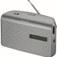 RADIO GRUNDIG FM LW MW PILES/SECTEUR SILVER