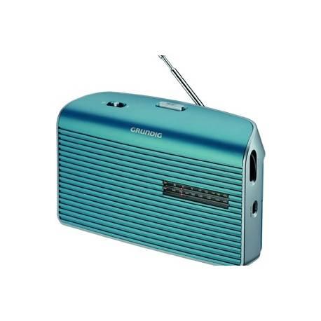 RADIO GRUNDIG FM LW MW PILES/SECTEUR TURQUOISE