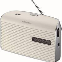 RADIO GRUNDIG FM LW MW PILES/SECTEUR BLANC