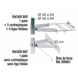 FIXATION MURALE SANS CP PT MODELE ZINC BLANC (LA PAIRE)