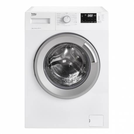 lave linge front beko 8 kg 1400t a blanc. Black Bedroom Furniture Sets. Home Design Ideas