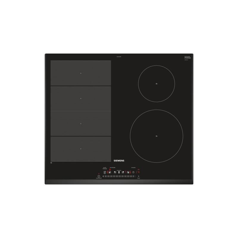 plaque induction siemens 2f 1 zone modulable 7200w noir. Black Bedroom Furniture Sets. Home Design Ideas