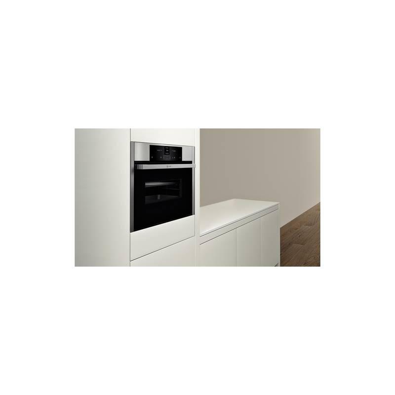 micro ondes neff combine 45 cm 1000w 45l inox. Black Bedroom Furniture Sets. Home Design Ideas