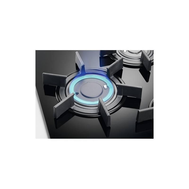 plaque gaz email grande largeur electrolux 5 feux inox. Black Bedroom Furniture Sets. Home Design Ideas