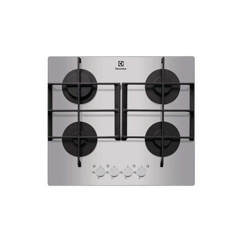plaque gaz verre electrolux 4g inox bord biseaute. Black Bedroom Furniture Sets. Home Design Ideas