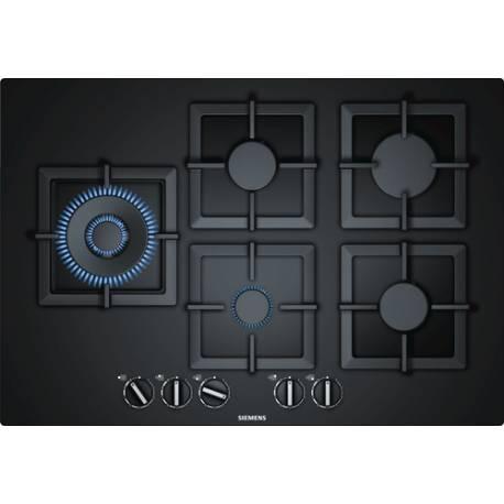 plaque gaz verre siemens 5f noire. Black Bedroom Furniture Sets. Home Design Ideas