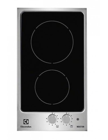 plaque domino induction electrolux noire inox. Black Bedroom Furniture Sets. Home Design Ideas