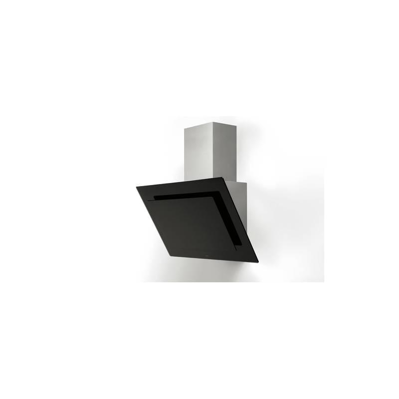 hotte deco novy plan incline 943m3 h 56 db verre noir. Black Bedroom Furniture Sets. Home Design Ideas