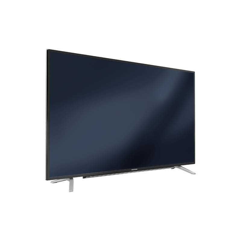 tvc led 140 cm grundig uhd fransat smart tv noir et silver. Black Bedroom Furniture Sets. Home Design Ideas
